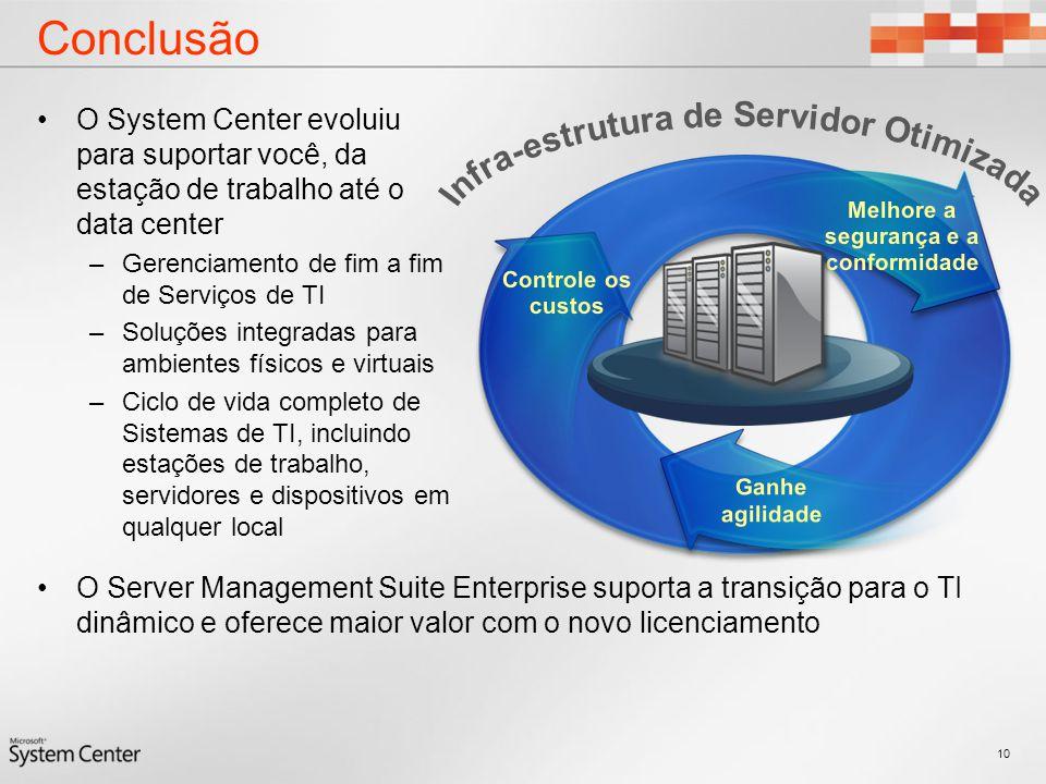 Conclusão Infra-estrutura de Servidor Otimizada