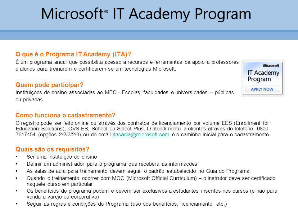 O que é o Programa IT Academy (ITA)