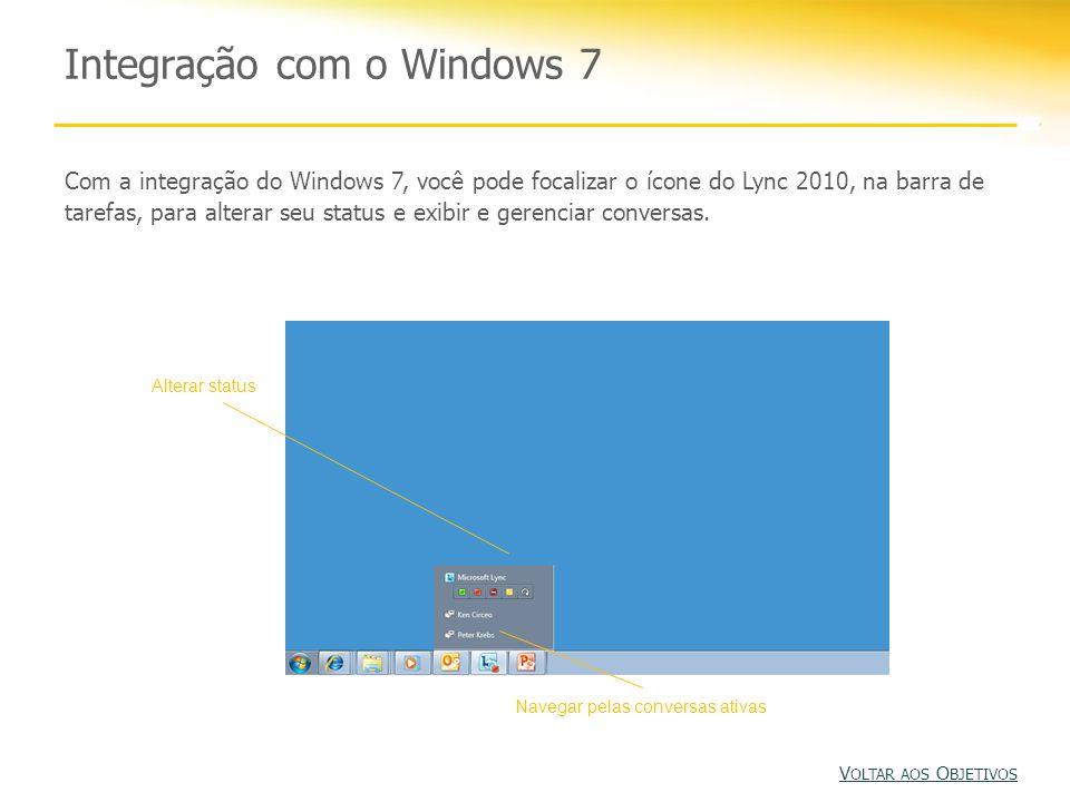 Integração com o Windows 7