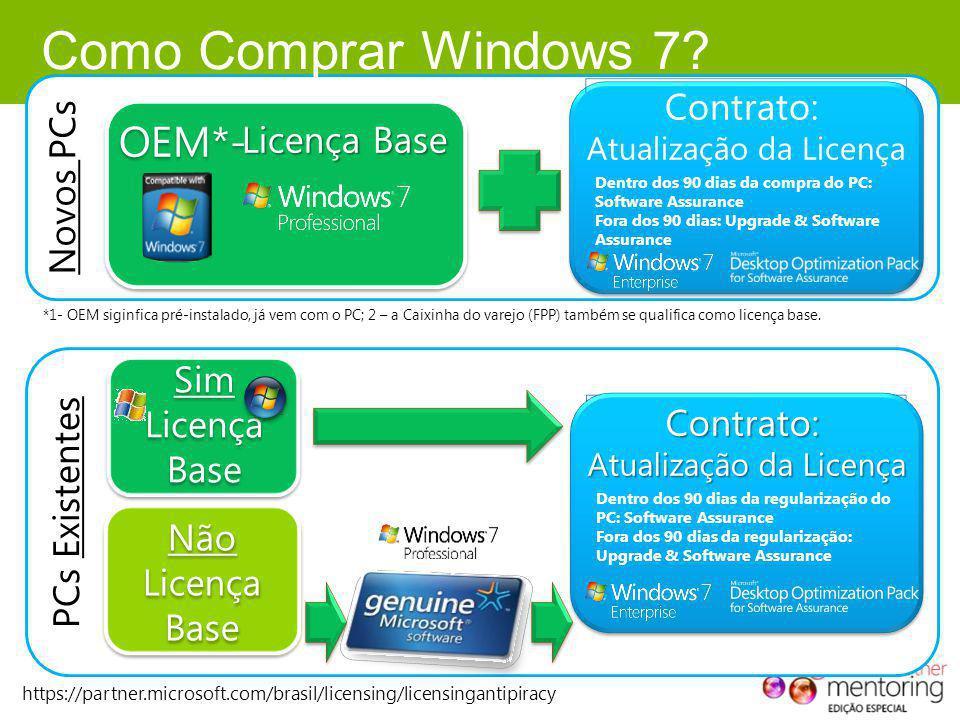 Como Comprar Windows 7 OEM*- Novos PCs Contrato: Licença Base