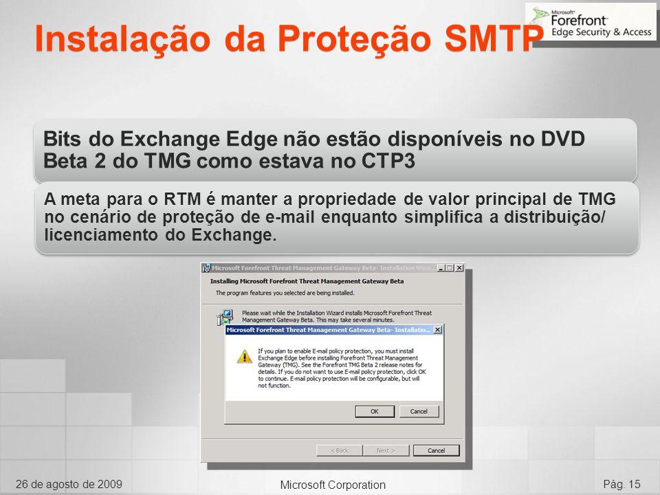 Instalação da Proteção SMTP