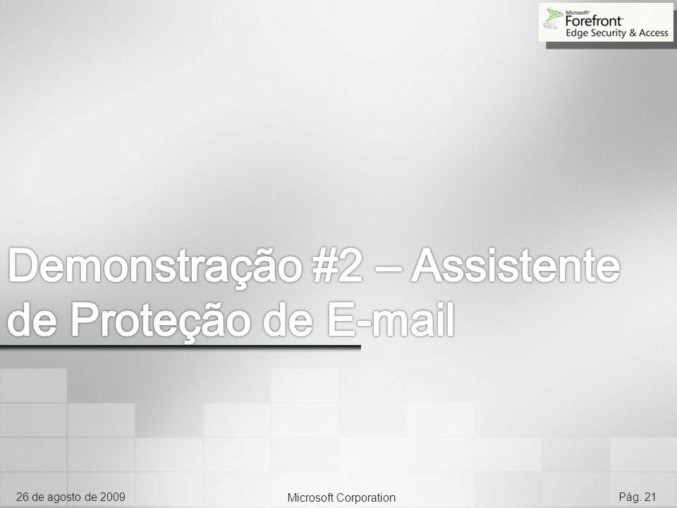 Demonstração #2 – Assistente de Proteção de E-mail