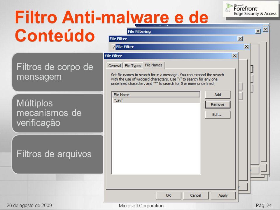 Filtro Anti-malware e de Conteúdo