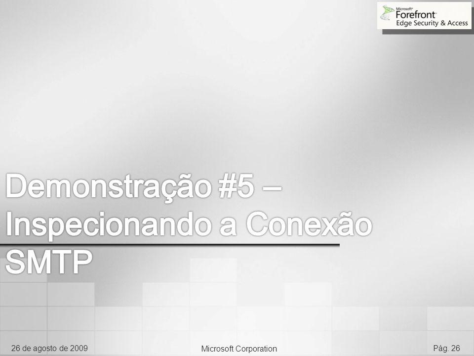 Demonstração #5 – Inspecionando a Conexão SMTP