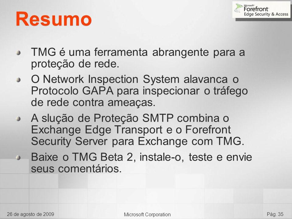 Resumo TMG é uma ferramenta abrangente para a proteção de rede.