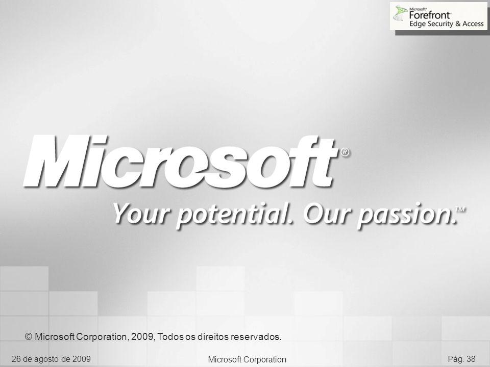 © Microsoft Corporation, 2009, Todos os direitos reservados.