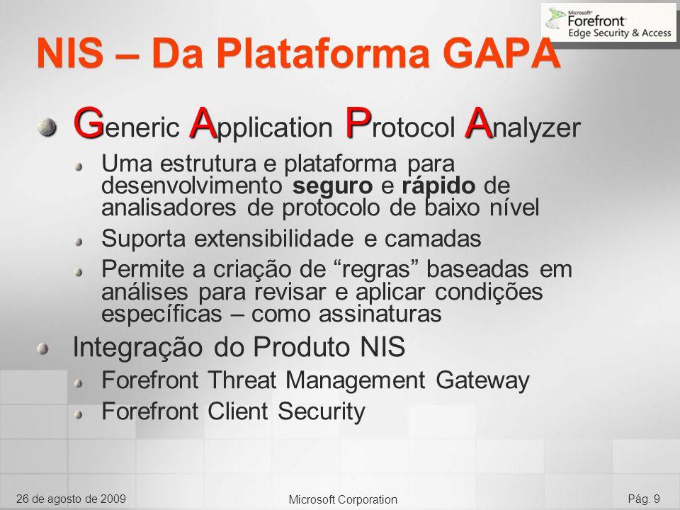 NIS – Da Plataforma GAPA