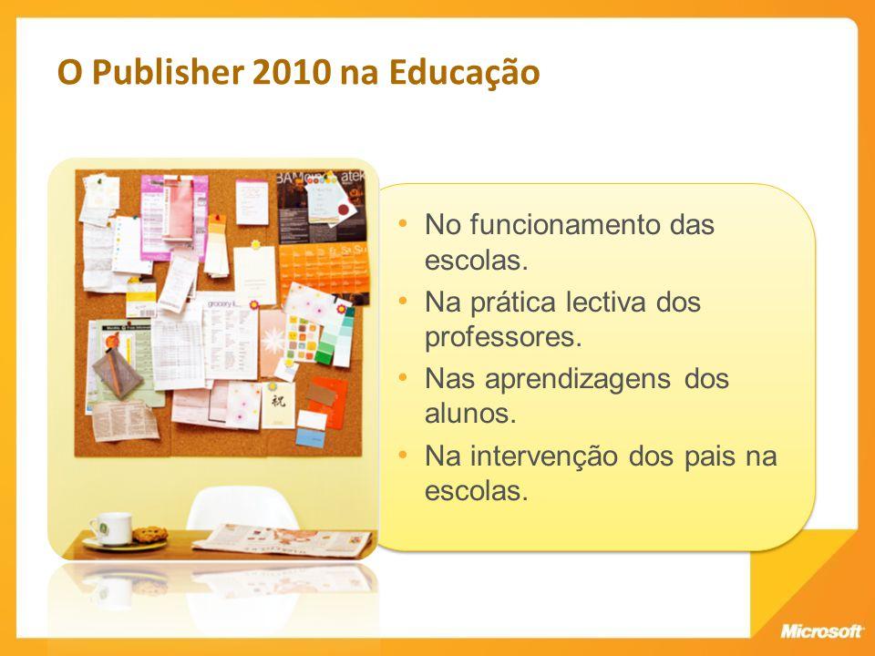 O Publisher 2010 na Educação