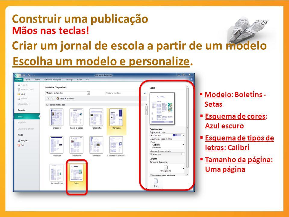 Construir uma publicação