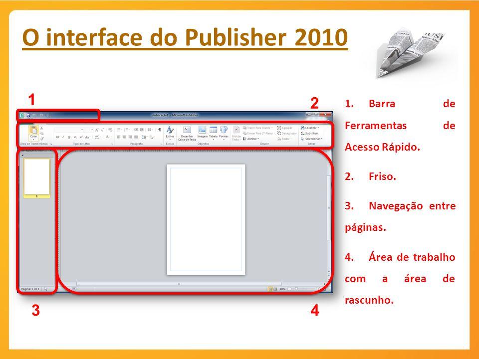 O interface do Publisher 2010