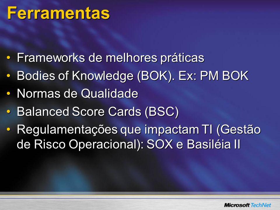 Ferramentas Frameworks de melhores práticas