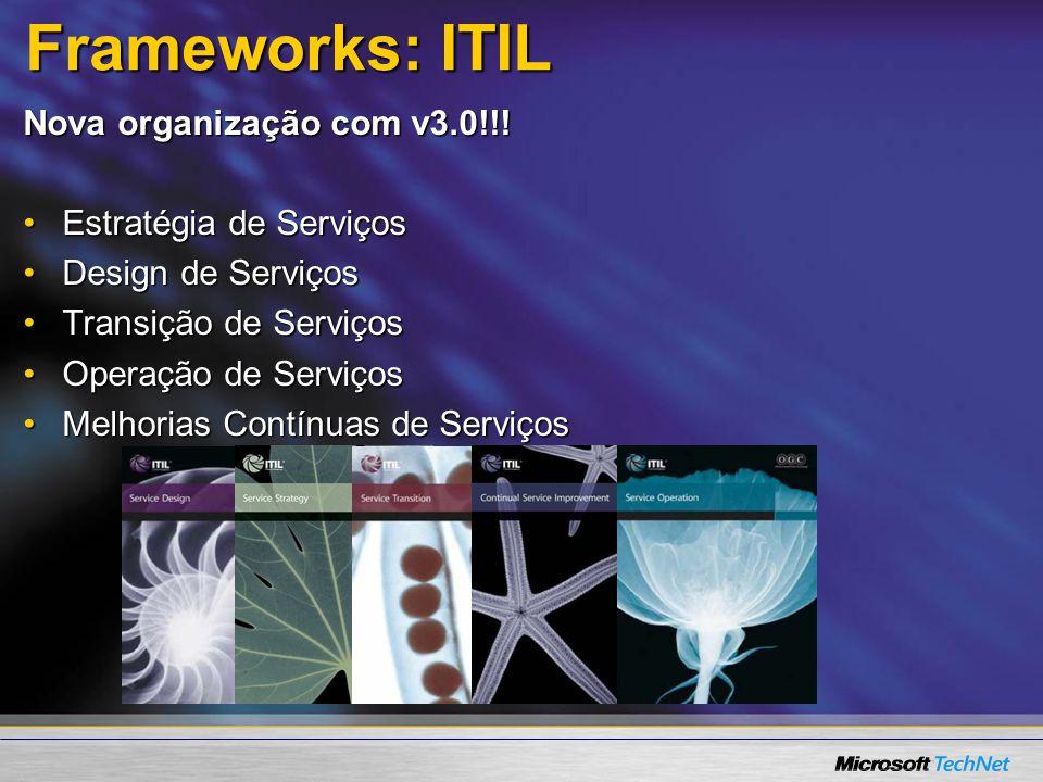 Frameworks: ITIL Nova organização com v3.0!!! Estratégia de Serviços