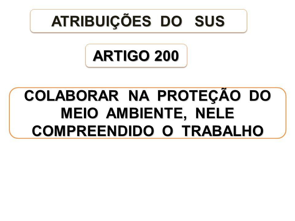 COLABORAR NA PROTEÇÃO DO MEIO AMBIENTE, NELE COMPREENDIDO O TRABALHO