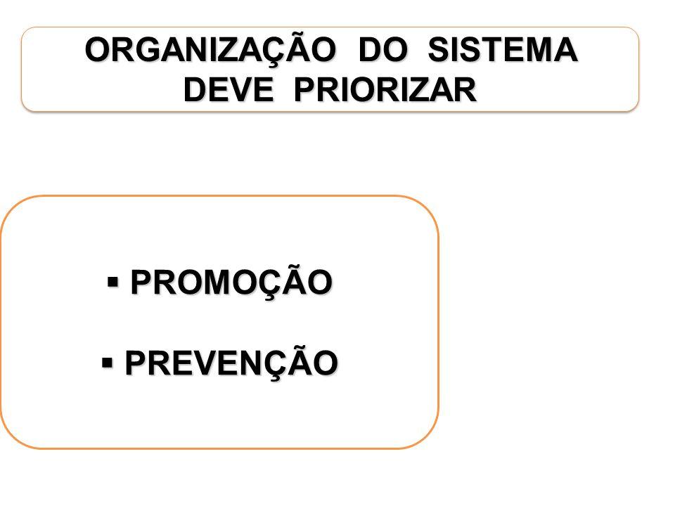 ORGANIZAÇÃO DO SISTEMA DEVE PRIORIZAR