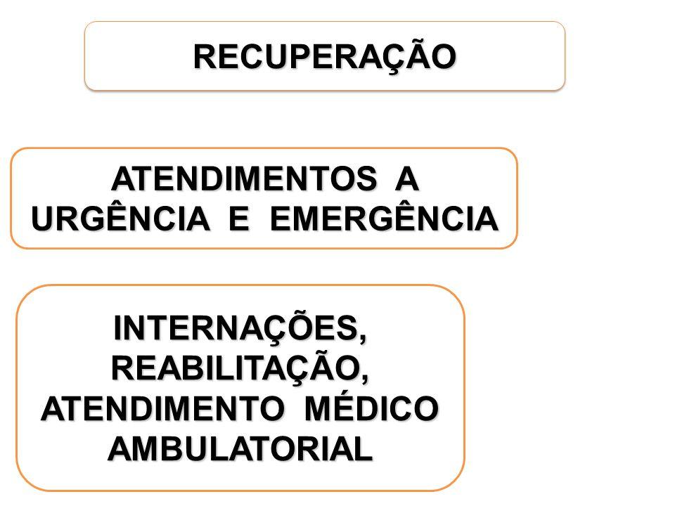 ATENDIMENTOS A URGÊNCIA E EMERGÊNCIA