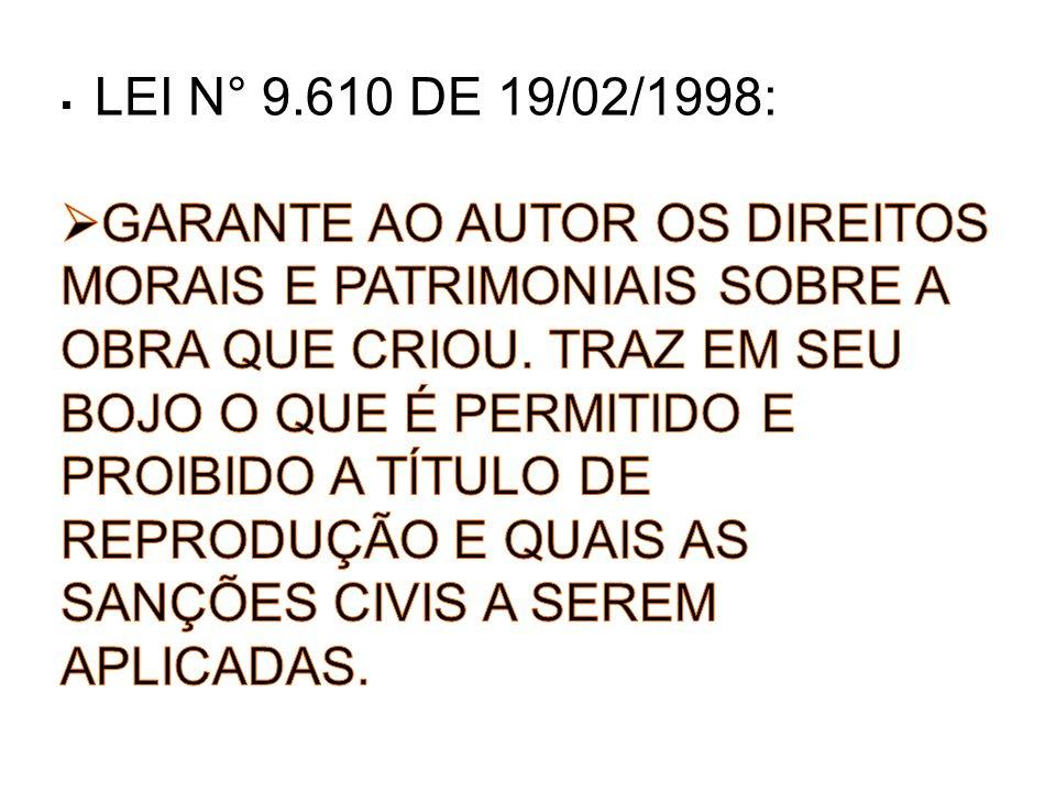 LEI N° 9.610 DE 19/02/1998: