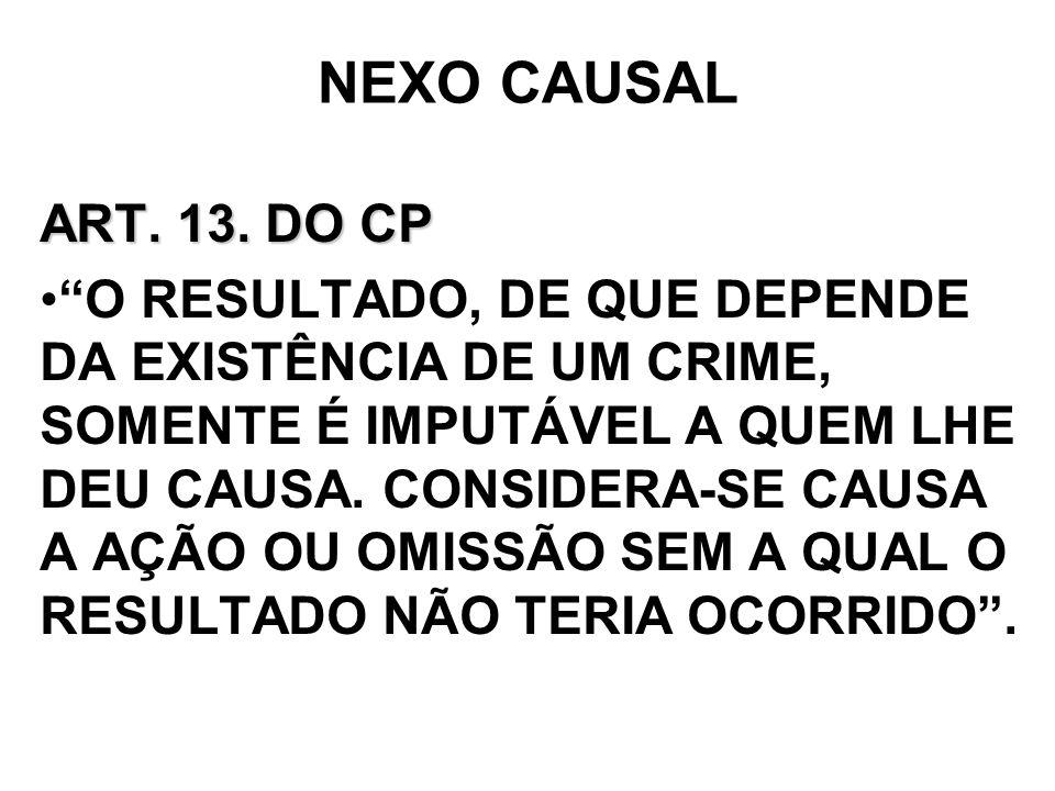 NEXO CAUSAL ART. 13. DO CP.