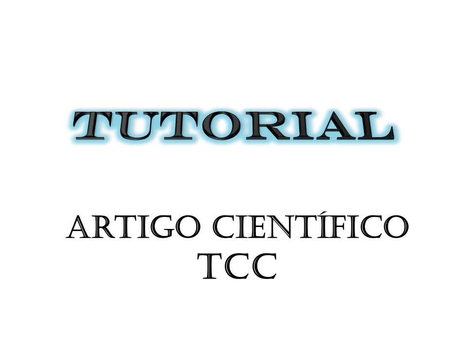 TUTORIAL Artigo científico TCC