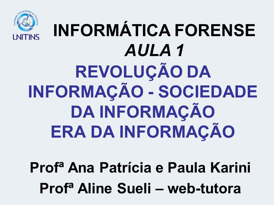 REVOLUÇÃO DA INFORMAÇÃO - SOCIEDADE DA INFORMAÇÃO ERA DA INFORMAÇÃO