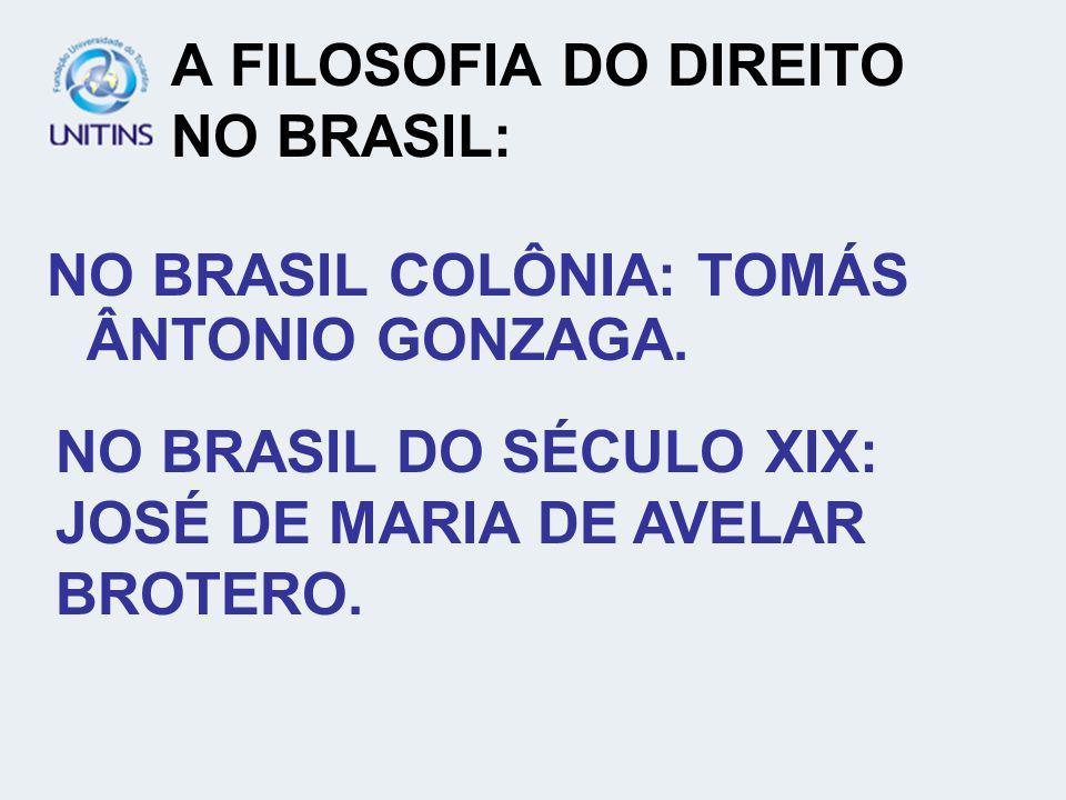 A FILOSOFIA DO DIREITO NO BRASIL: