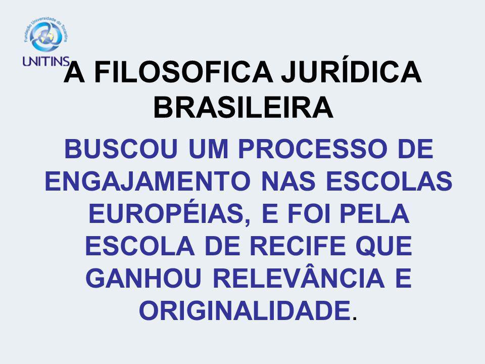 A FILOSOFICA JURÍDICA BRASILEIRA
