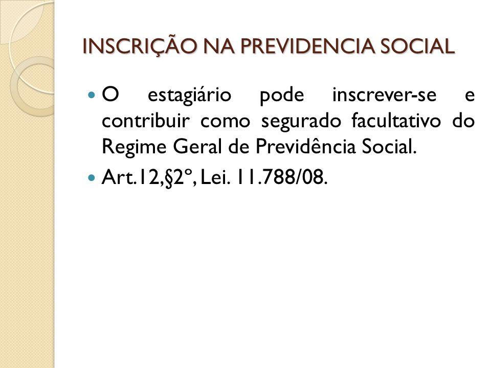 INSCRIÇÃO NA PREVIDENCIA SOCIAL