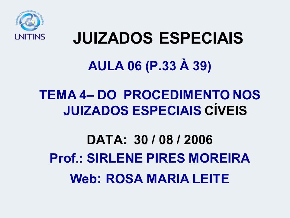 JUIZADOS ESPECIAIS AULA 06 (P.33 À 39)