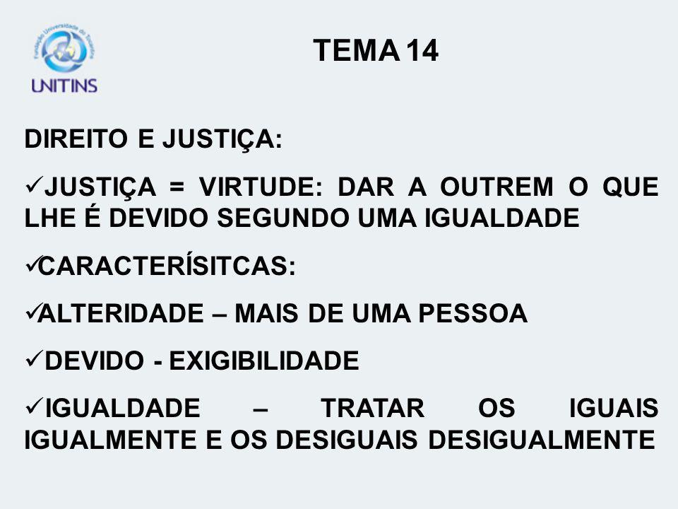 TEMA 14 DIREITO E JUSTIÇA:
