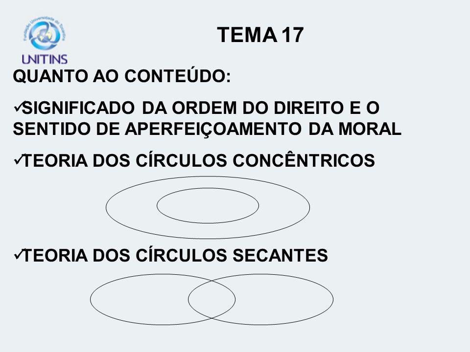 TEMA 17 QUANTO AO CONTEÚDO: