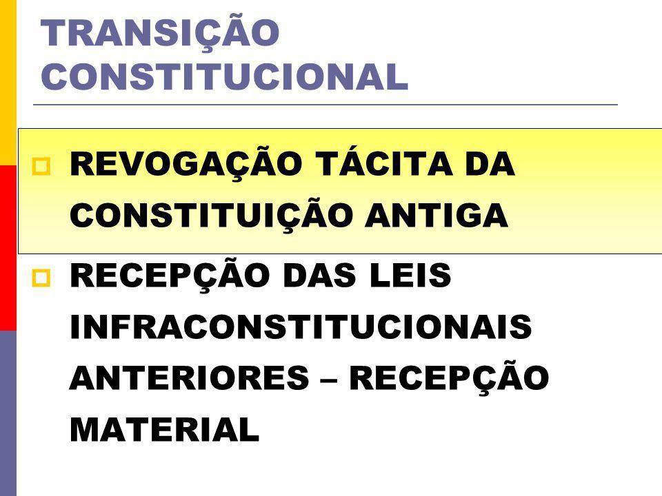 TRANSIÇÃO CONSTITUCIONAL