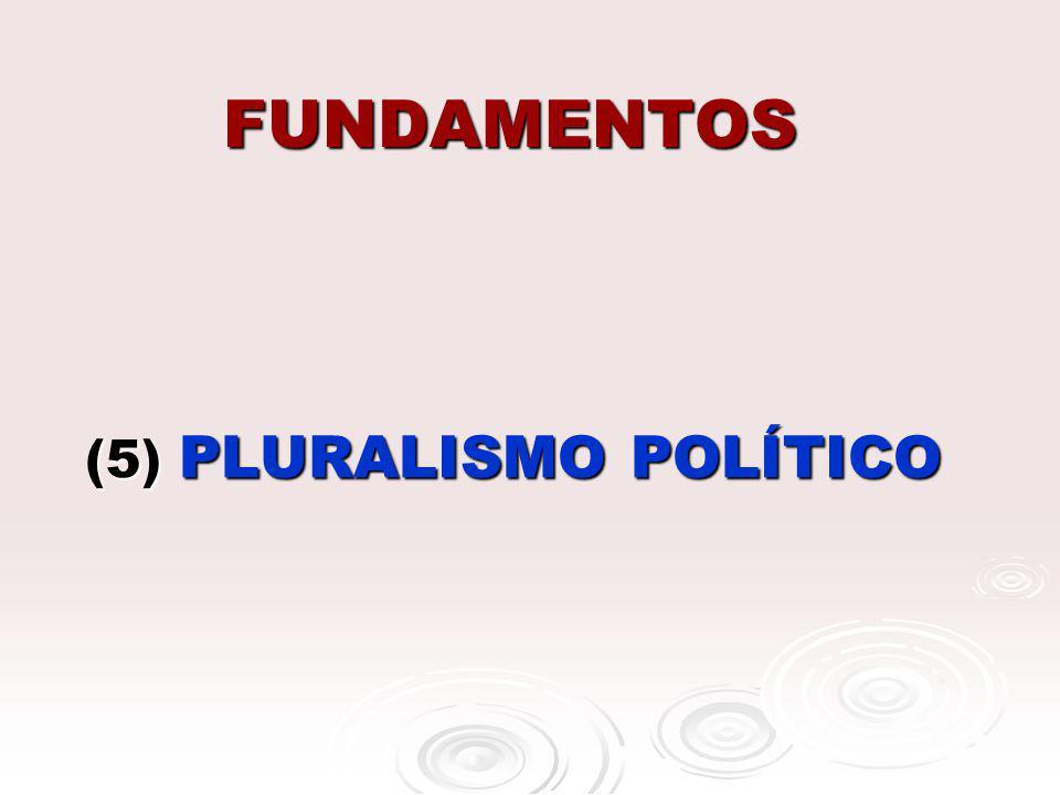 (5) PLURALISMO POLÍTICO
