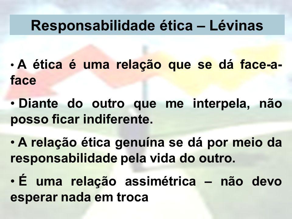 Responsabilidade ética – Lévinas