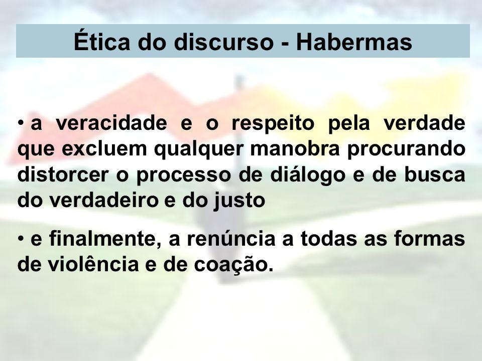 Ética do discurso - Habermas
