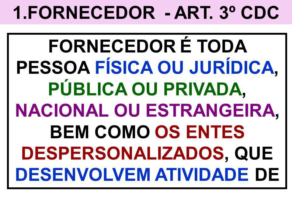 1.FORNECEDOR - ART. 3º CDC