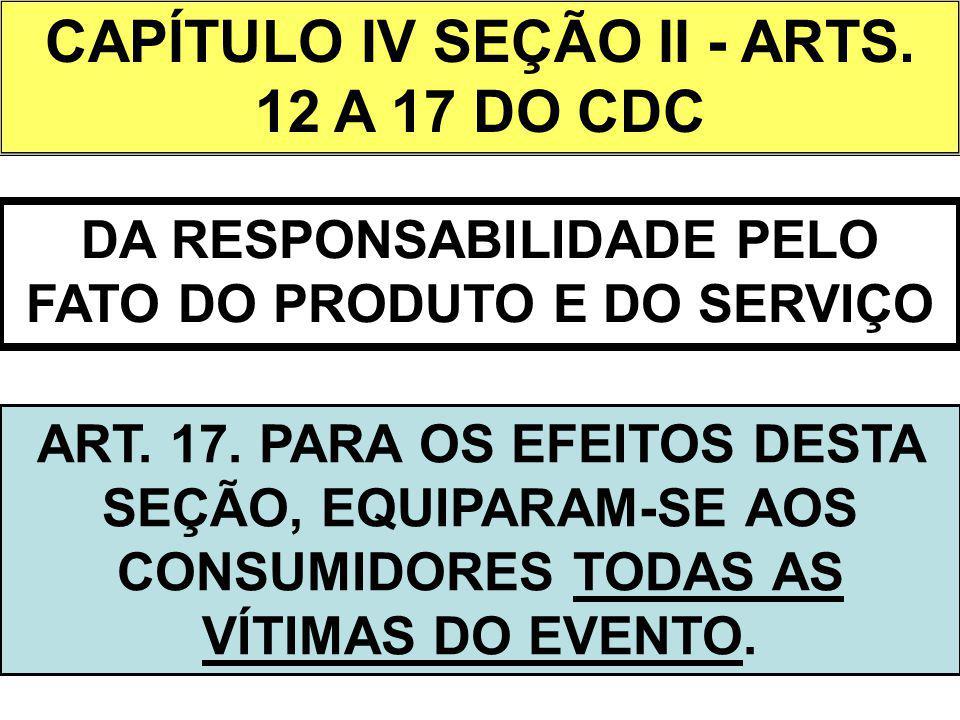 CAPÍTULO IV SEÇÃO II - ARTS. 12 A 17 DO CDC