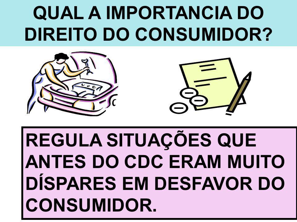 QUAL A IMPORTANCIA DO DIREITO DO CONSUMIDOR