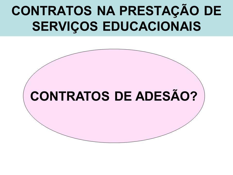 CONTRATOS NA PRESTAÇÃO DE SERVIÇOS EDUCACIONAIS