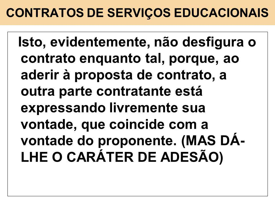 CONTRATOS DE SERVIÇOS EDUCACIONAIS