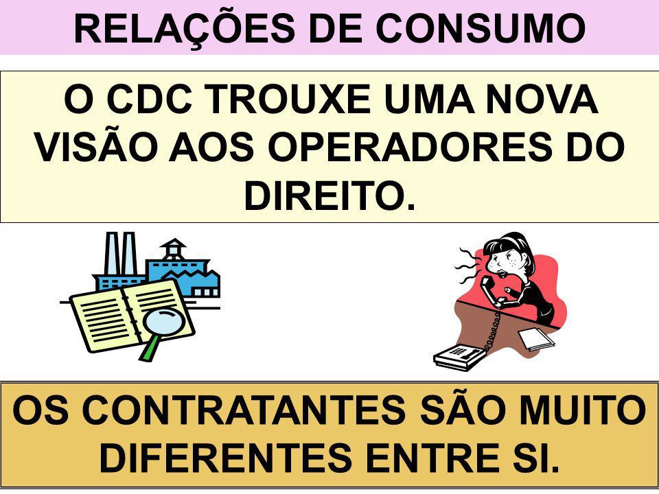 O CDC TROUXE UMA NOVA VISÃO AOS OPERADORES DO DIREITO.