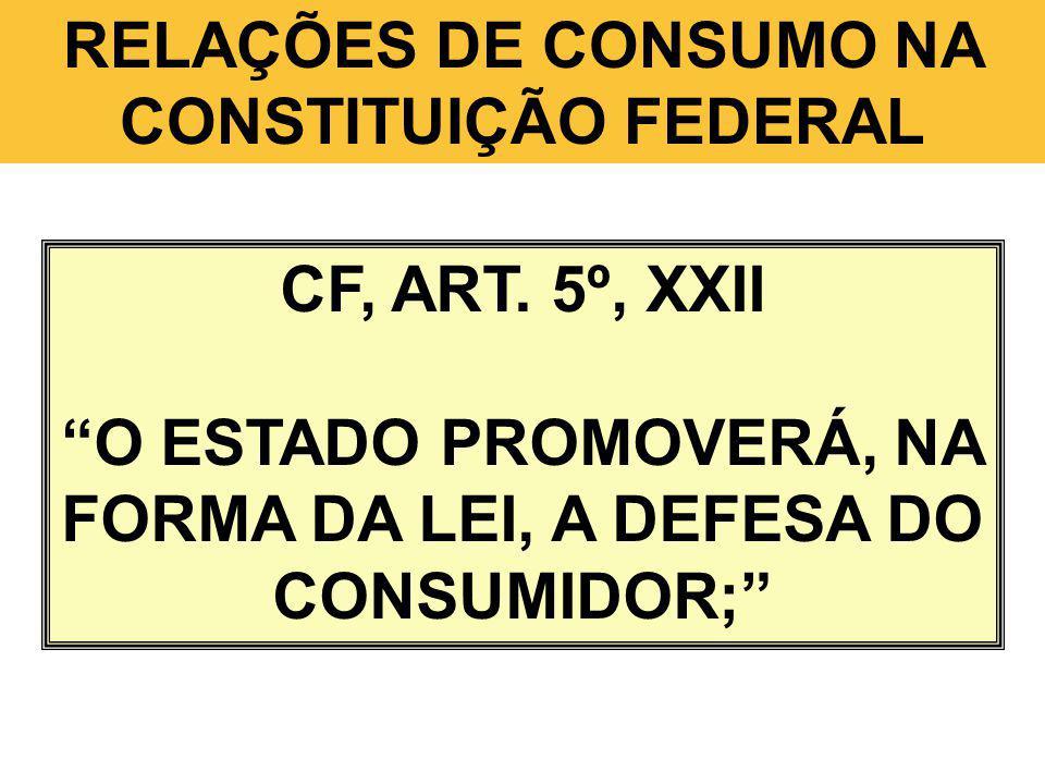 RELAÇÕES DE CONSUMO NA CONSTITUIÇÃO FEDERAL