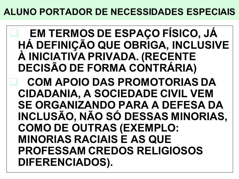 ALUNO PORTADOR DE NECESSIDADES ESPECIAIS