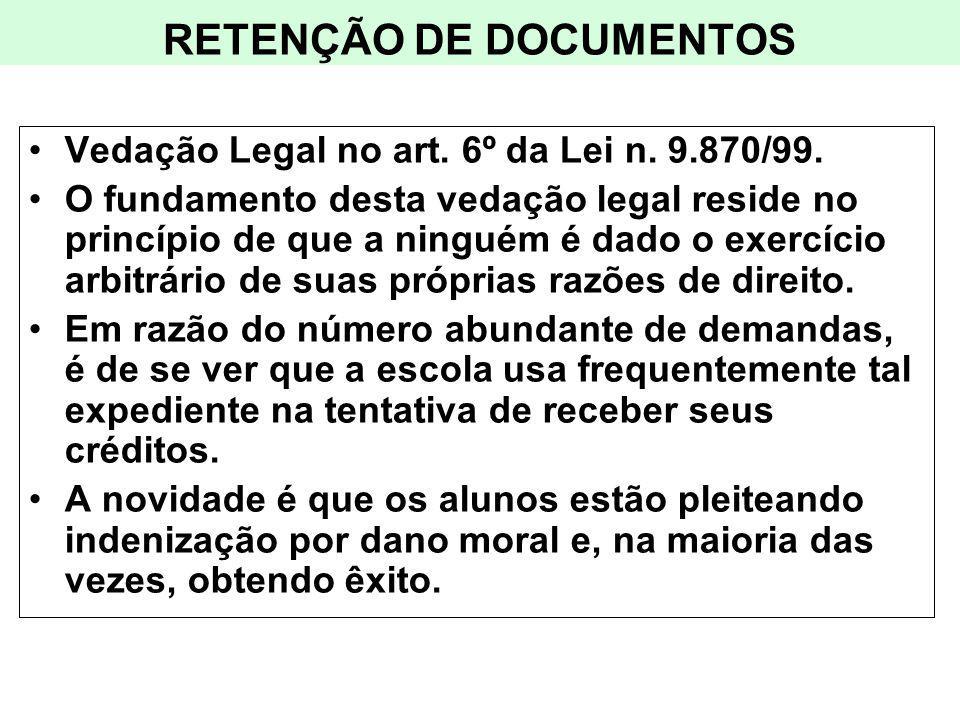 RETENÇÃO DE DOCUMENTOS