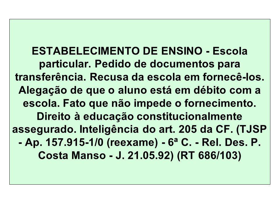 ESTABELECIMENTO DE ENSINO - Escola particular