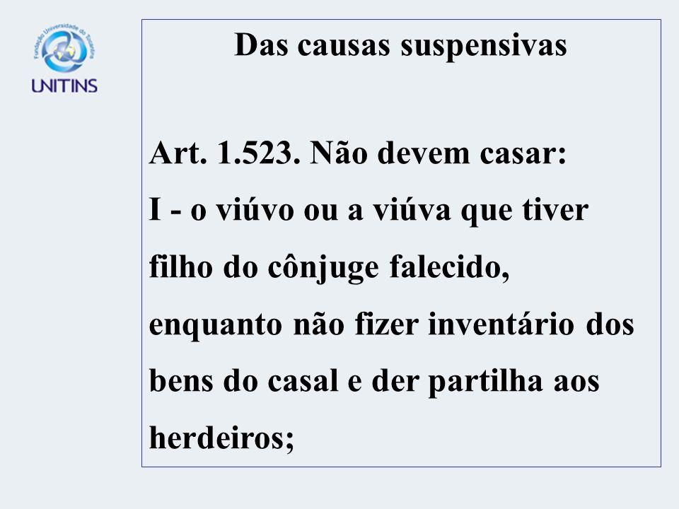 Das causas suspensivas