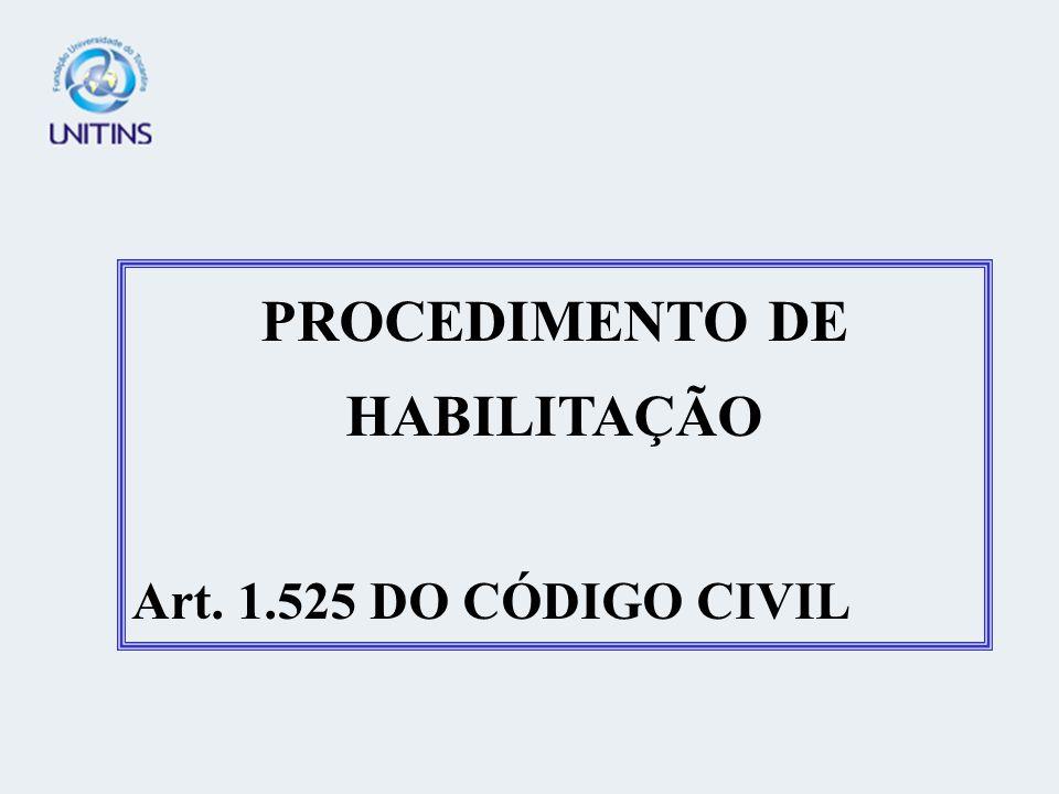 PROCEDIMENTO DE HABILITAÇÃO