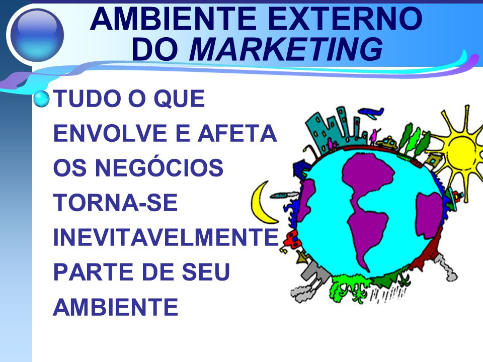 AMBIENTE EXTERNO DO MARKETING