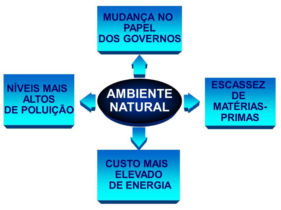 AMBIENTE NATURAL MUDANÇA NO PAPEL DOS GOVERNOS NÍVEIS MAIS ALTOS