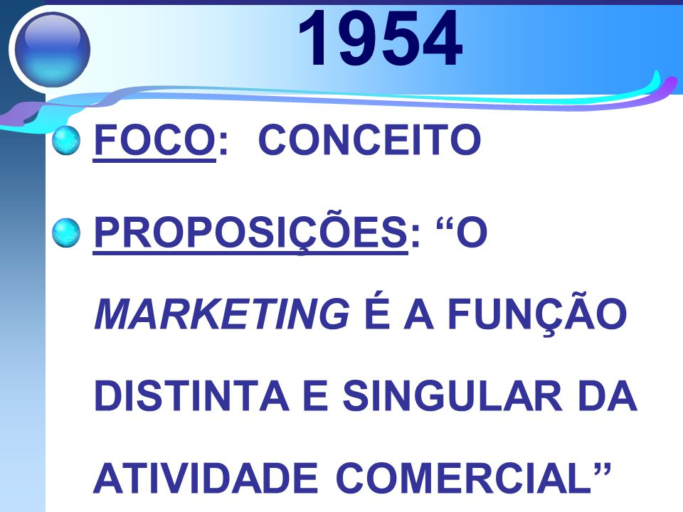 1954 FOCO: CONCEITO.