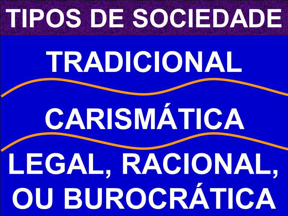 LEGAL, RACIONAL, OU BUROCRÁTICA
