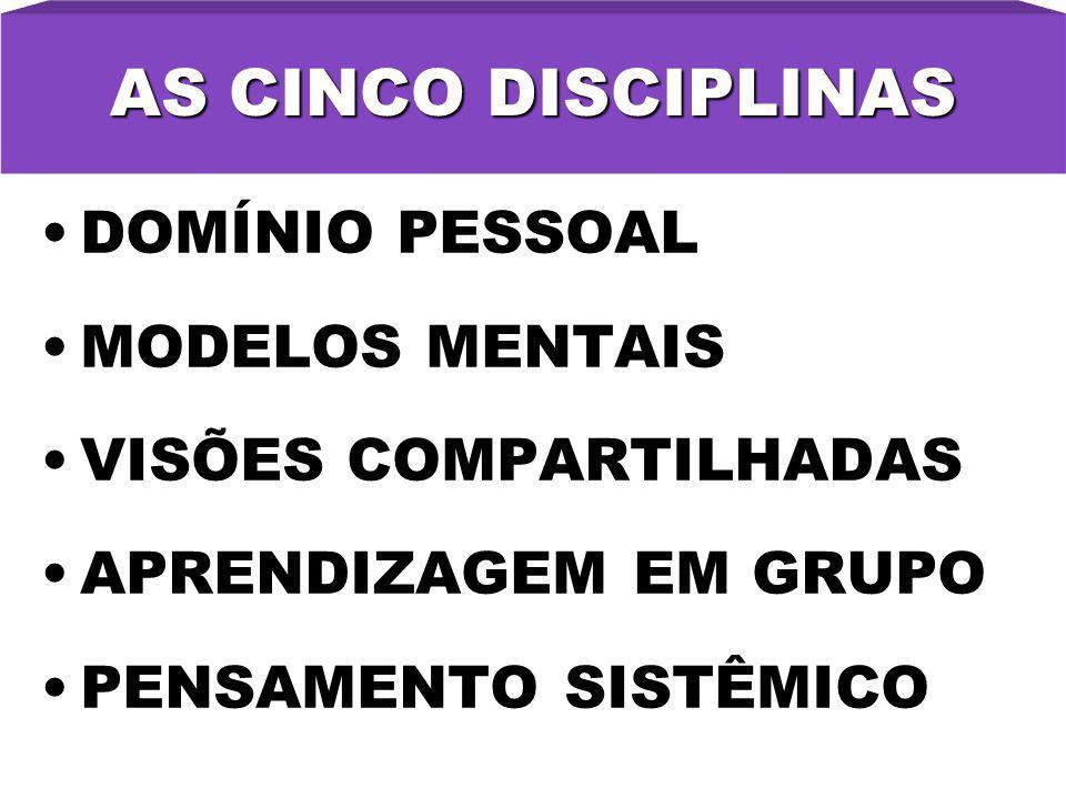 AS CINCO DISCIPLINAS DOMÍNIO PESSOAL MODELOS MENTAIS